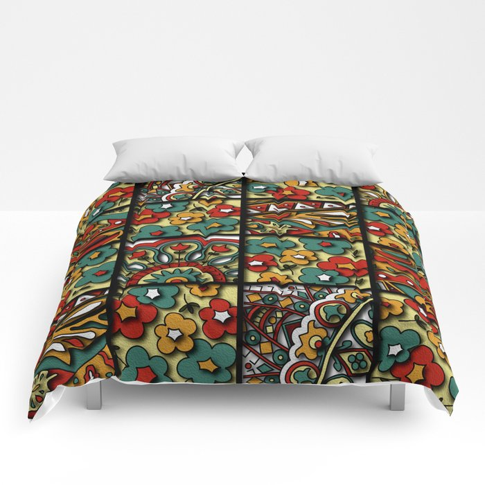Flower collage Comforters