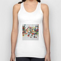 xbox Tank Tops featuring Colorful Triangles by Dizzy Moments