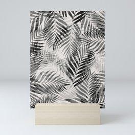 Palm Leaves - Black & White Mini Art Print