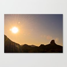 Sunset on the Apache Trail Canvas Print