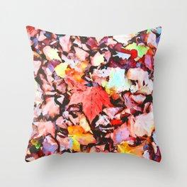 Maple foliage texture Throw Pillow
