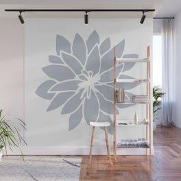 Flower Bluebell Blue on White Wall Mural