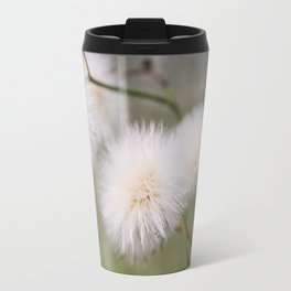 White fluffy balls. Travel Mug