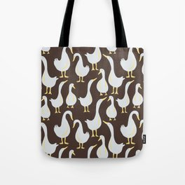 Geese On Brown Tote Bag