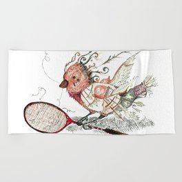 The Wild Badminton Birdie Beach Towel