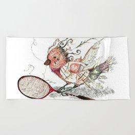 The Wild Badminton Birdie Beach Towel
