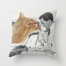 Planet Feline Throw Pillow