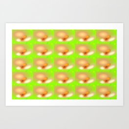 0607 Blossoms, seen with cataract ... Art Print
