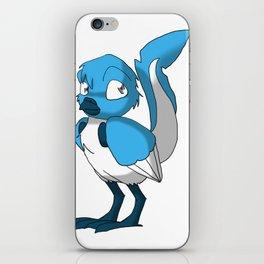 Light Blue/Color-Or-Paint-Your-Own Reptilian Bird w/ Dark Blue Beak/Legs/Hands #ArtofGaneneK #Animal iPhone Skin