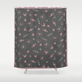 Letters for your sweetheart . Shower Curtain
