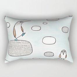 blue foot boody Rectangular Pillow