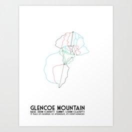 Glencoe Mountain, Scotland - Minimalist Winter Trail Art Art Print