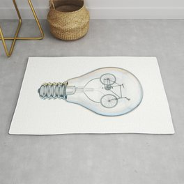 Light Bicycle Bulb Rug