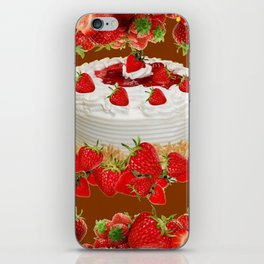 CHOCOLATE STRAWBERRIES PARTY CAKE iPhone Skin