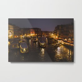 The hustle and bustle of Venice Metal Print