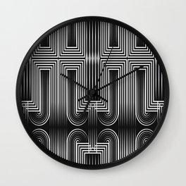 Art Deco 32 . Graffiti black and white Wall Clock