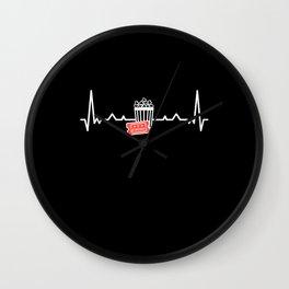 Cinema Popcorn Heartbeat Film Lover Gift Wall Clock