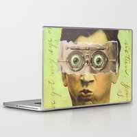 creepy Laptop & iPad Skins featuring UNCLE CREEPY by Julia Lillard Art