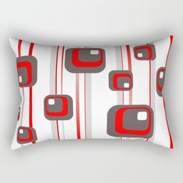 Vintage Retro Graphic white Rectangular Pillow