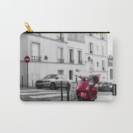 Red Vespa in Paris Carry-All Pouch
