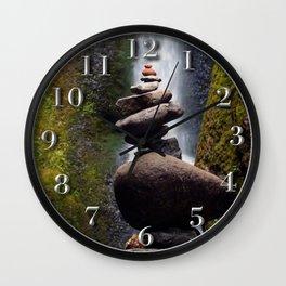 Stone Carin, Oneonta Falls, Oneonta Gorge, Oregon Wall Clock