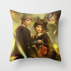 BBC Merlin: Emrys Ascending  Throw Pillow