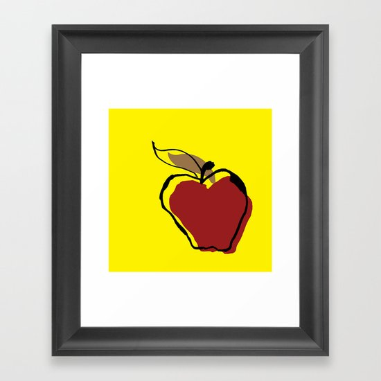Apple for Teacher Framed Art Print