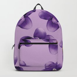 Purple Flowers Pattern Backpack
