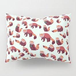 Red Panda Pattern Pillow Sham