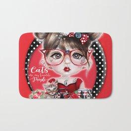 Cat Crazy Chloe - MunchkinZ Elf - Sheena Pike Art & Illustration Bath Mat