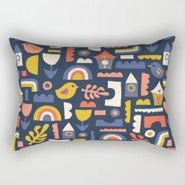 Kids Birds And Rainbows Scandinavian Design Rectangular Pillow