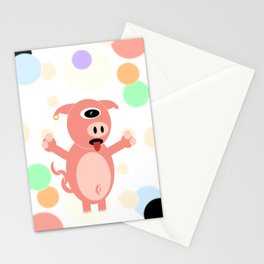 One Eyed Pig Stationery Cards
