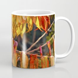 Fall Sumac Leaves during a Michigan Autumn Coffee Mug