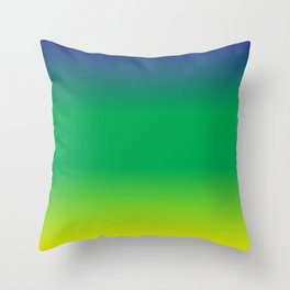 Blue+Yellow=Green Throw Pillow