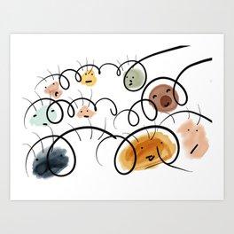 Kids Faces Art Print