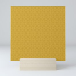 Yellow Gold Très Petit Geometric Pattern Mini Art Print
