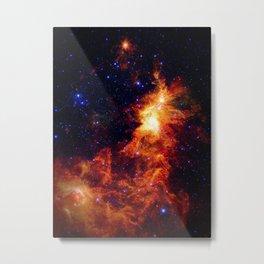 Fiery gAlAXy Indigo Stars Metal Print