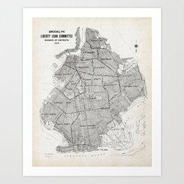 Map of Brooklyn Art Print