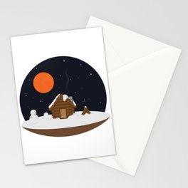 Cabin In The Snow Stationery Cards