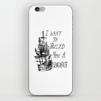 larry stylinson iPhone & iPod Skins featuring I want to build you a boat. Harry Styles. Tattoo. (Larry Stylinson) by Arabella
