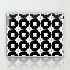 Linocut scandinavian minimal printmaking pattern blockprint black and white Laptop & iPad Skin