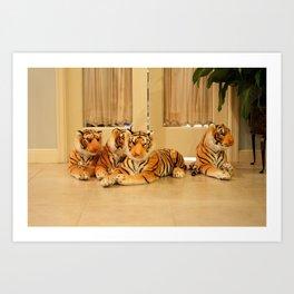 Play Tigers. Art Print