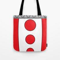 persona 4 Tote Bags featuring Persona 4 Teddie Suit by Bunny Frost