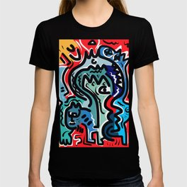 Life Energy Pop Art Graffiti Abstract Design T-shirt