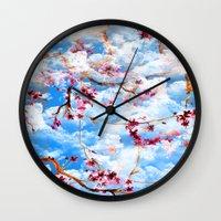 sakura Wall Clocks featuring SAKURA by sametsevincer