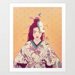 Origami Lady Art Print