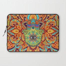 Colorful  Hamsa Hand -  Hand of Fatima Laptop Sleeve