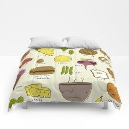 Food Friends Comforters