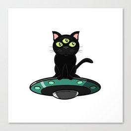 ufo cat furniture Design by diegoramonart Canvas Print