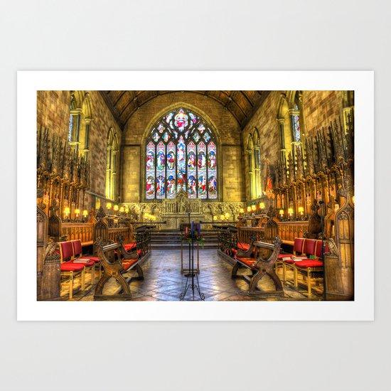 Cathedral Seats Art Print